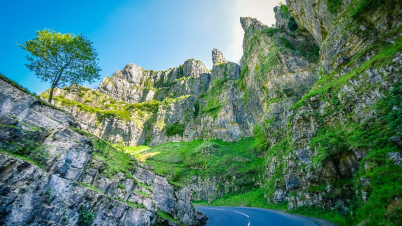 A scenic road trip through Cheddar Gorge